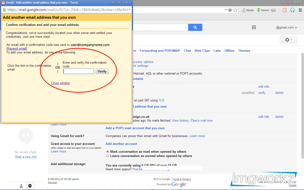 storage email from gmail
